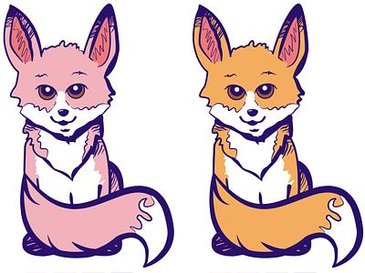 Foxy fox vector illustration logo branding art graphic design design