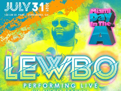 Lewbo Concert Flyer music concert flyer graphic design design