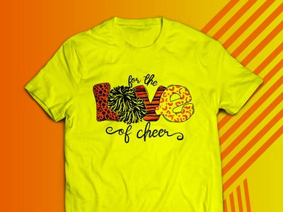 Cheer illustration apparel art branding design graphic design