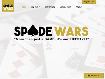 Spade Wars: Web Design art web design graphic design design