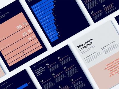 Trustpilot –Report clean layout brochure layout cover mockup brochure print design print