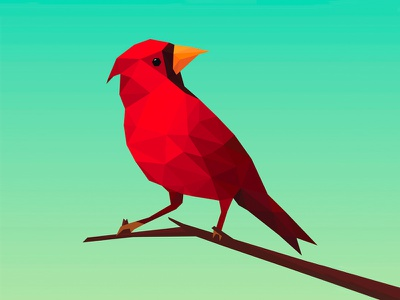Low-poly bird geometric polygonal flat illustration bird low-poly