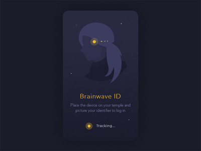 Not Daily UI - Brainwave Login pattern authentication scifi onboarding illustration mental brain flat minimal login