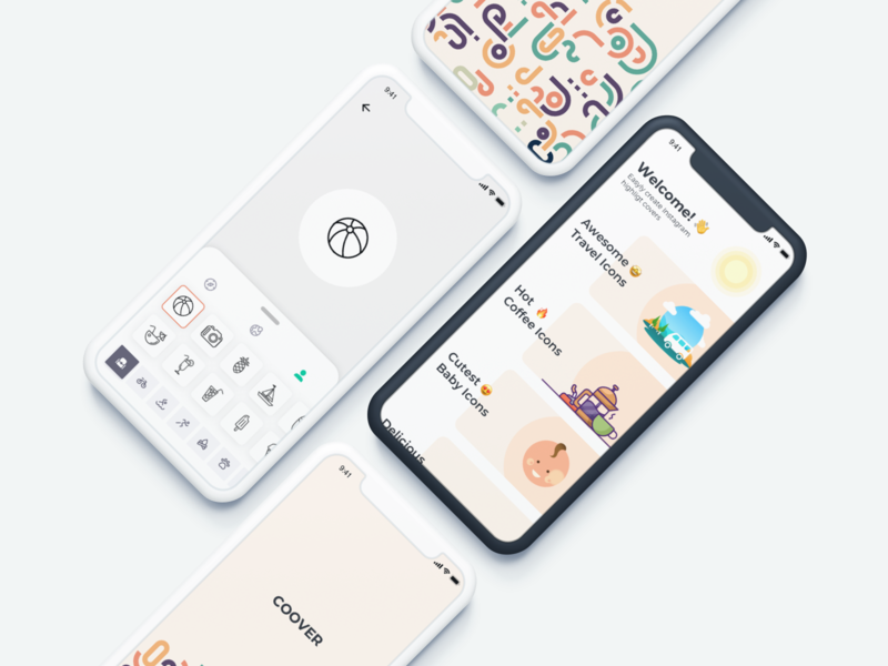 Coover - Instagram Cover Icons (WIP) ui design mobile ios app editor icon story instagram