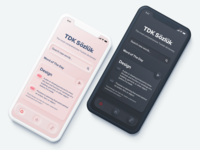 TDK - Dictionary App Concept dark mode mobile home screen home dictionary neomorphism neomorphic iphone concept ui ios design app