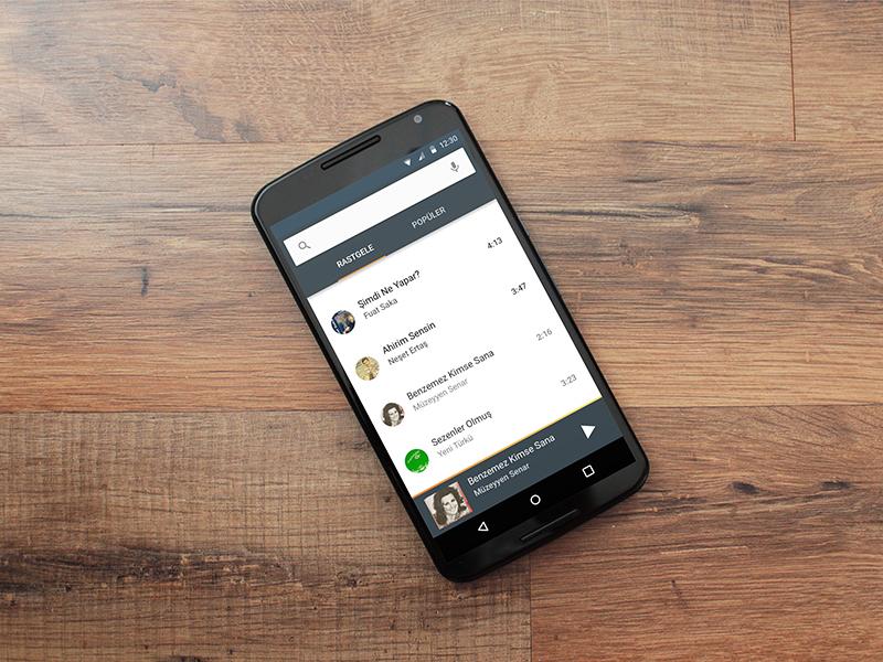 Rakı Müzikleri App Design turkish single raki music material android