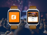 Eventbrite Android Wear Concept Design