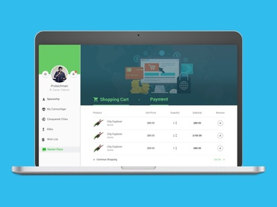 Shopping Cart - Web payment website commerce shopping