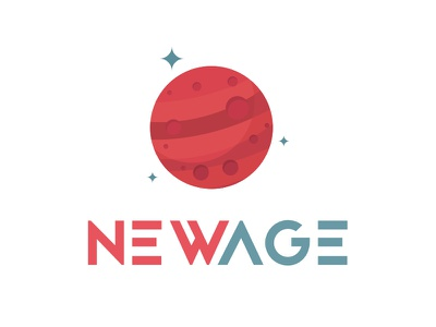 New Age Agency Logo Design red new age agency logo