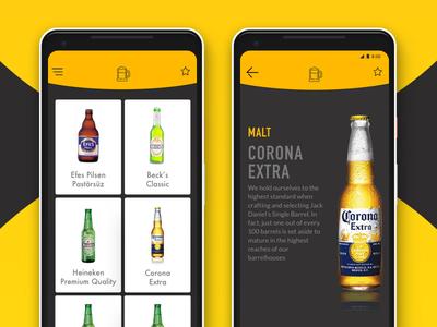 Beer Guide App swipe yellow opensource beer app pixel