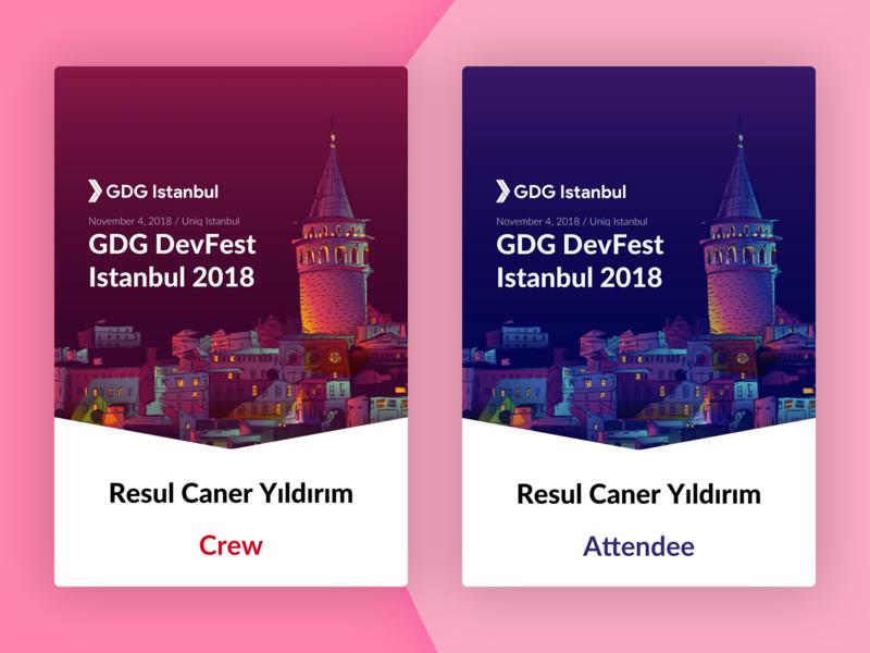 DevFest Istanbul 2018 Badges istanbul print badge devfest