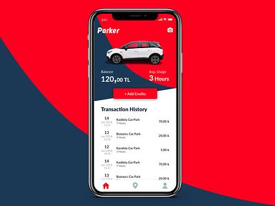 Parker - Car Park Finder design app application carpark car parker