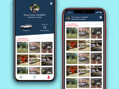 Parker - Profile car app carpark ui ios design app