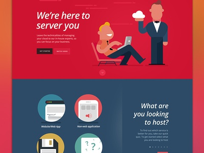 Rackspace Website Pitch - E3creative presentation pitch host brochure site site website illustration flat server