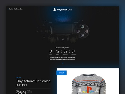 PlayStation Black Friday shop ecommerce countdown controller christmas sale offer products friday black playstation