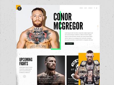 Conor McGregor Example Website Adobe Comp CC iPad Pro comp cc prototype mayweather floyd fight ipad pro adobe grunge ufc conor mcgregor conor mcgregor