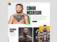 Conor McGregor Example Website Adobe Comp CC iPad Pro