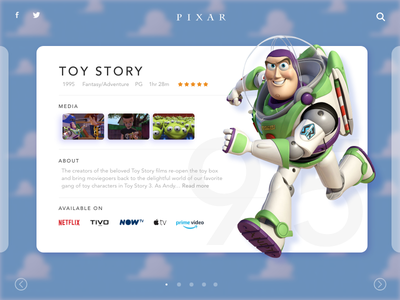Pixar Toy Story Concept - Mixed Software video movie show buzz lightyear now tv tivo netflix tv carousel disney pixar toy story