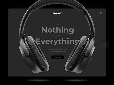BOSE Headphones web ui idea concept noise sound beats apple music spotify music headphones bose