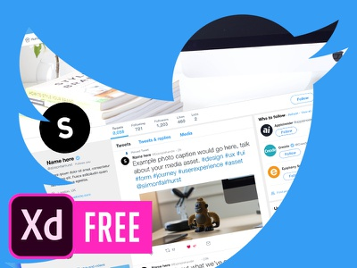 FREE Twitter Template for Adobe XD adobe. platform social ui8 download mockup template twitter xd freebie free adobe xd