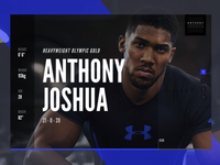 Anthony Joshua Boxing Sport Stats Adobe Comp CC