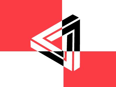 Illusionist Penrose Triangles Concept invitations invite out of the box brandmark brand classroom triangle personal development penson triangle illusion logo design logo