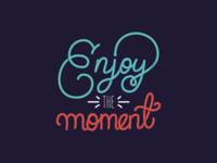Enjoy - Monoline Hand Lettering