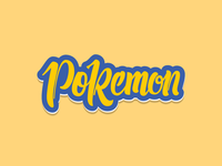 Pokemon - Custom Hand Lettering