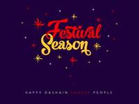 Festival Season Lettering