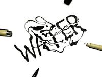 Water Inktober Custom Illustrative Lettering