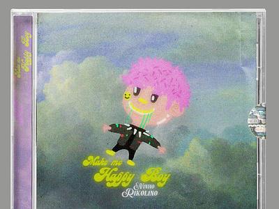 Make Me Happy Boy EP - N1NH0 R1K0L1N0 2021 n1nh0 r1k0l1n0 niño rikolino tap fakebit chiptune digitalmusic cd music design logo illustration graphic design hyperpop