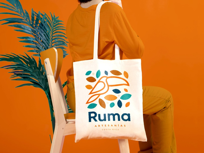 Ruma Brand logo design animal handcraft totebag bag handmade design logo identity brand