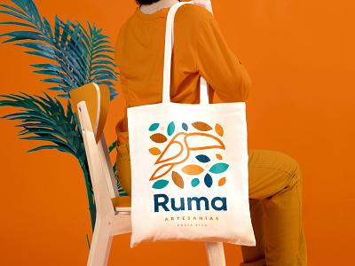 Ruma Brand logo design animal handcraft totebag bag handmade design logo identity brand