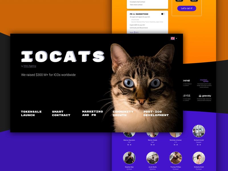 IOCats website ico web cat company website branding