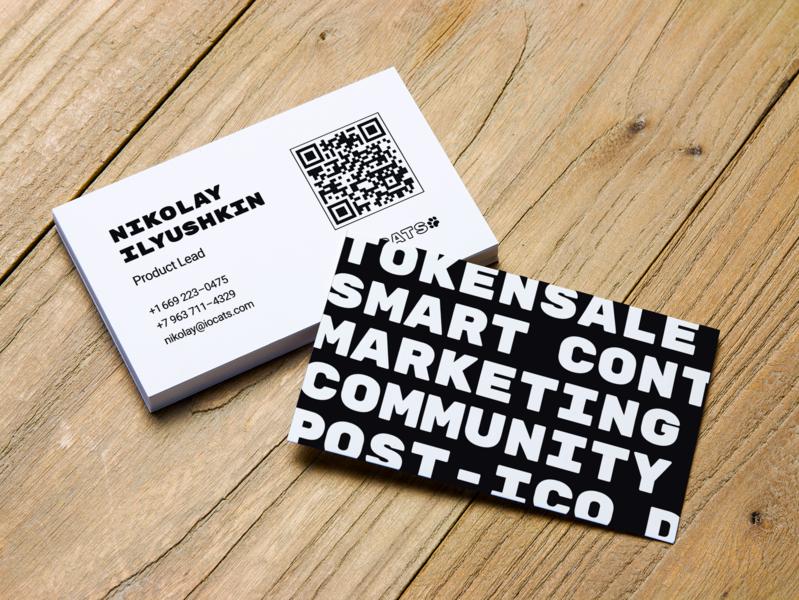 IOCats business card design business card branding