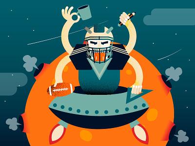 Freelance Designer ufo cosmos vector illustration designer freelance