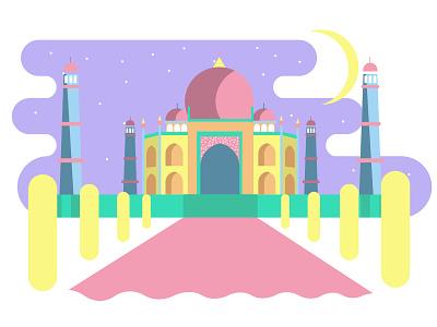 Taj Mahal design illustration vector vectorart india taj mahal