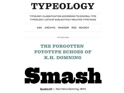 Typeology (version 0.1) typography fonts tumblr blog type