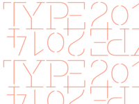 Typefaces of 2014 logo background