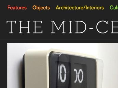 MCM v2 type blog web design ff dagny neutraface slab