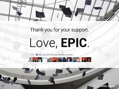 Love, EPIC html css groupt college industria flat minimalist social web