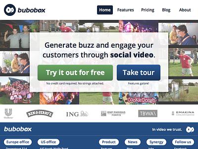 BuboBox home bubobox homepage video social web