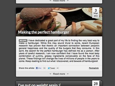 Blog post, take 2 css html blog hamburger web
