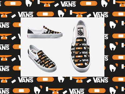 Cruise the Pain -VANS pattern skateboard vans product design ui michael tada design vector illustrator illustration digital art ai