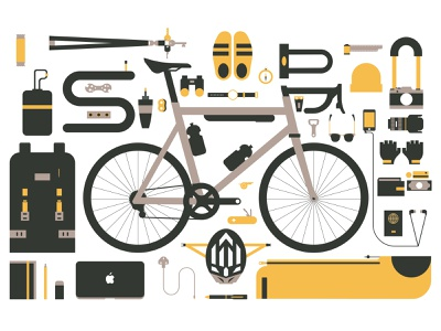 Personal Icons icons travel apple mac camera bike icon michael tada editorial illustration design vector illustrator illustration digital art ai