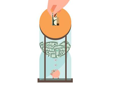 Investment returns 401k returns banks cryptocurrency ethereum bitcoin invest ui michael tada editorial illustration design vector illustrator illustration digital art ai