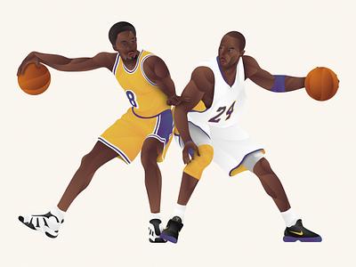 8.24 gradients rip tribute nba basketball 24 8 mamba kobe bryant artwork design illustration