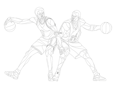 8.24 / outline 24 8 bryant rip tribute basketball nba la losangeles lakers kobe kobebryant outline design artwork illustration