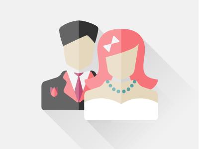 bride & groom profile couple wedding woman man groom bride