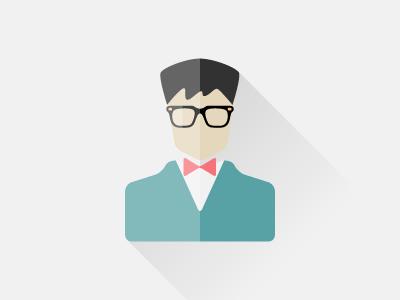 nerd tie bow glasses profile nerd